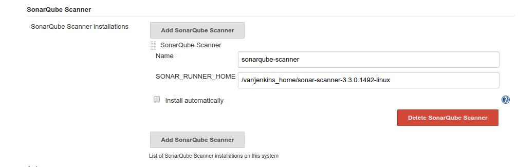 Installing SonarQube scanner