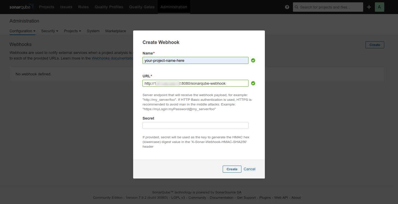 Creating Webhook